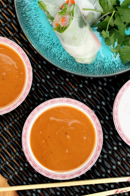 Homemade Peanut Sauce in Bowl