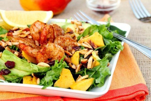 Spicy Shrimp Salad on plate