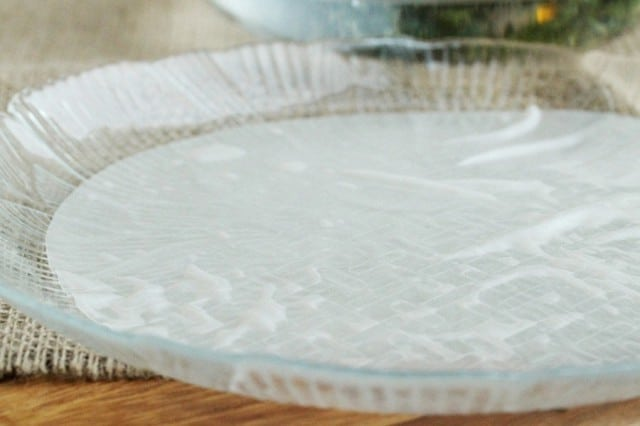 Rice Paper on Plate