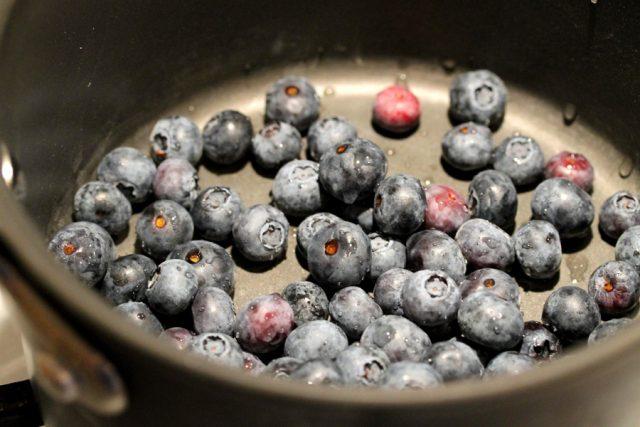 Blueberries in Pot