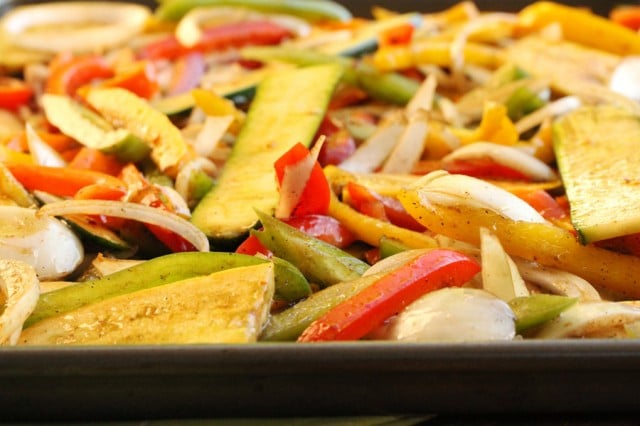 Marinated Vegetables on Sheet Pan