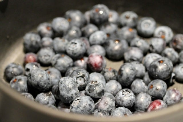 Blueberries in Pan
