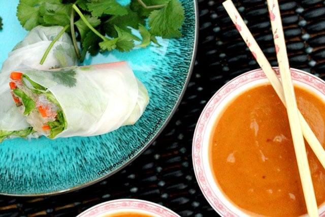 Peanut Sauce in bowls