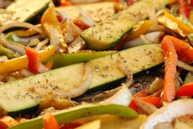 Marinated Vegetables on Pan