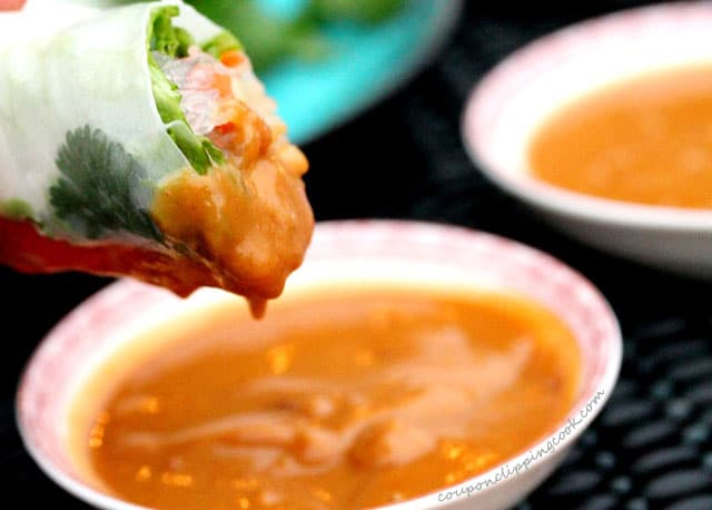 Peanut Sauce with Spring Roll