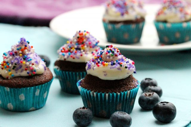 Chocolate Blueberry Cupcakes