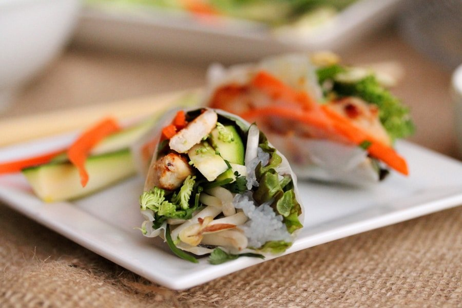 Veggie and Chicken Spring Rolls | Coupon Clipping Cook