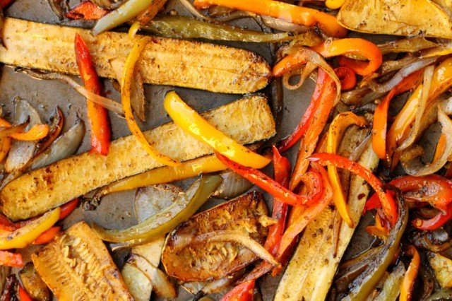 Roasted Vegetables on Pan