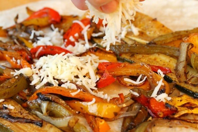 Cheese on Roasted Vegetables