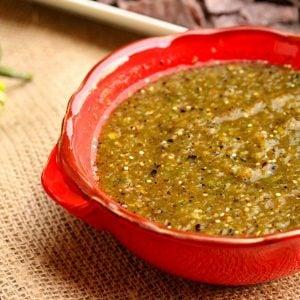 Roasted Tomatillo Jalapeno Salsa