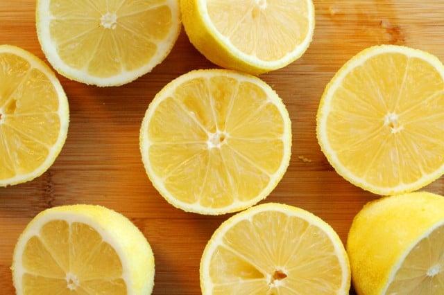 Lemons on Cutting Board
