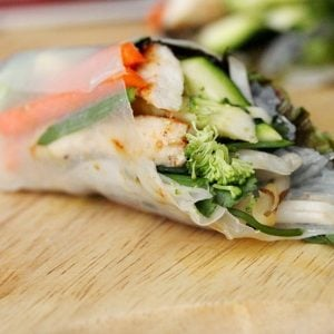 Chicken Fresh Spring Rolls