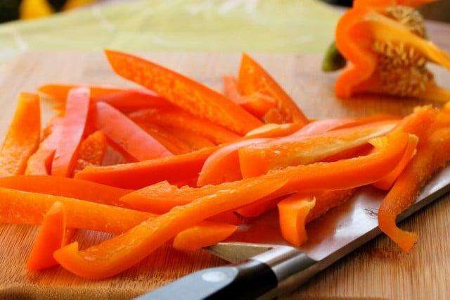 Cut Orange Bell Pepper