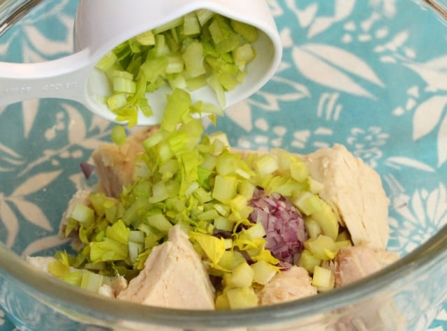 Chopped Celery in Tuna