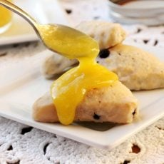 Lemon Curd on Scone