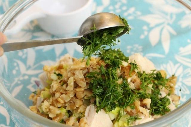 Chopped Dill in Tuna Salad