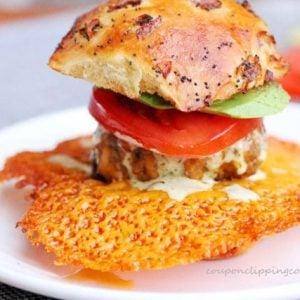 Crispy Cheese Burger Slider