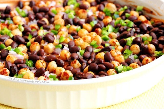 Beans in Bean Dip in bowl