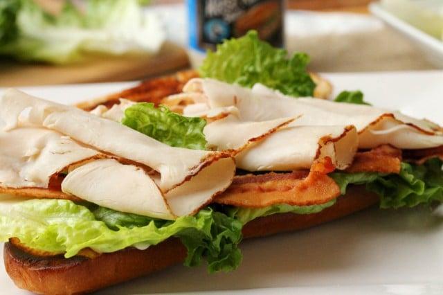 Sliced Turkey on Sandwich