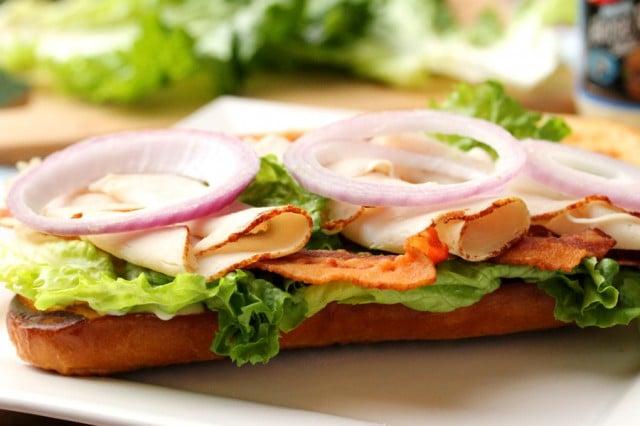 Red Onion on Sandwich