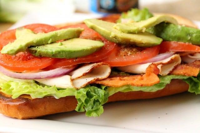 Sliced Avocado on Sandwich