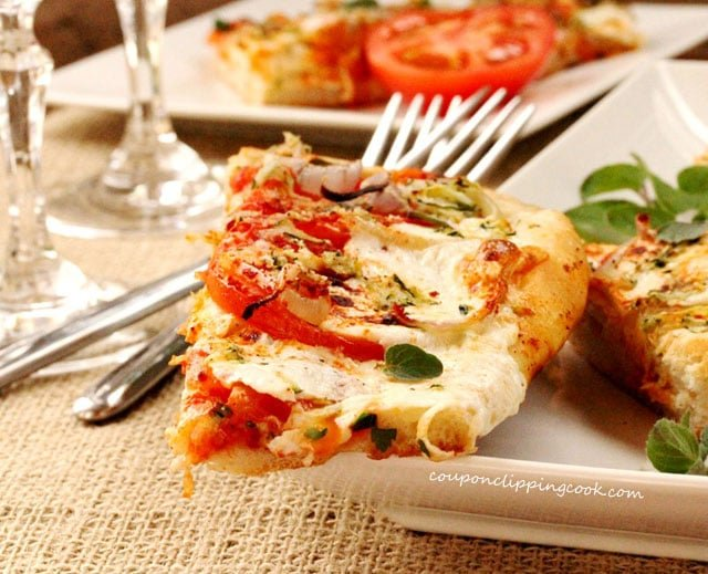 Piece of Vegetarian Pizza