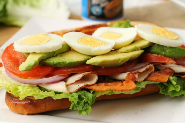 Egg on Cobb Salad Sandwich