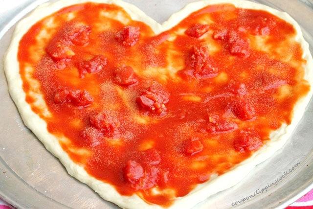 Garlic Powder on Pizza Dough