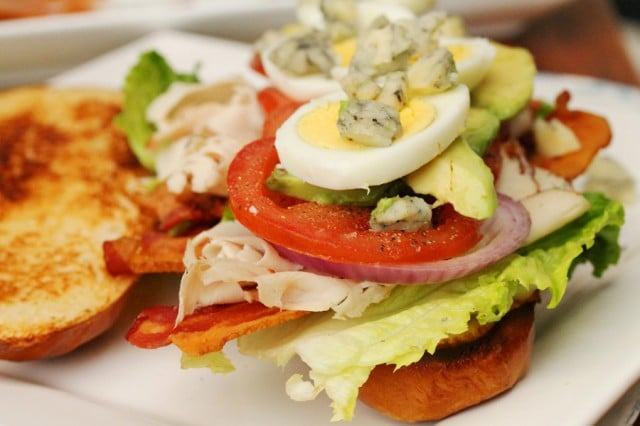 Blue Cheese on Cobb Salad Sandwich