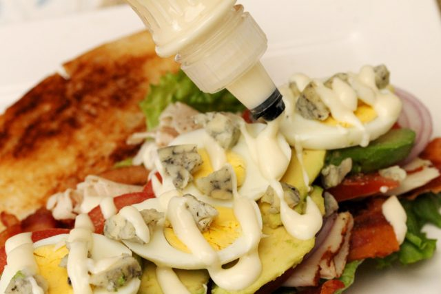 Salad Dressing on Sandwich