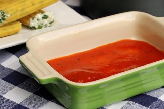 Marinara Sauce in Dish