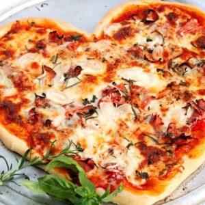 Valentine Heart Pizza