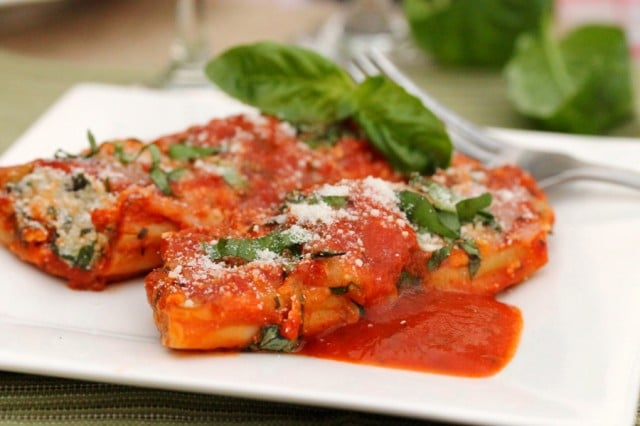 Sausage and Cheese Manicotti