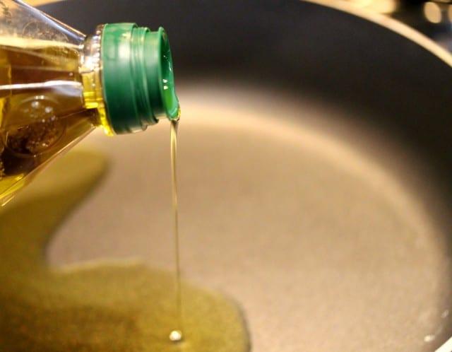 Olive Oil in Skillet