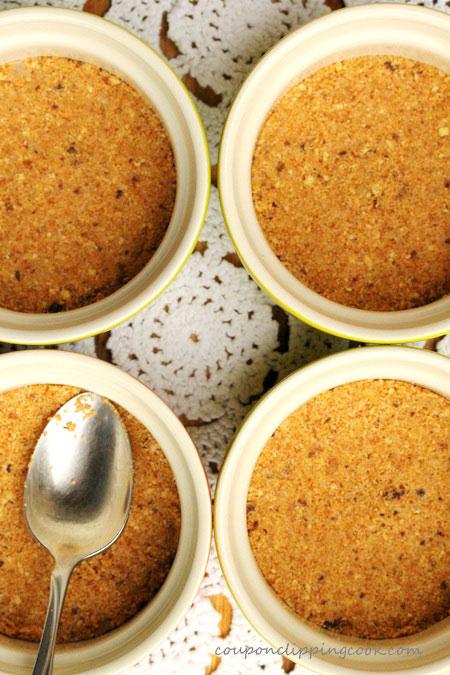 Graham Cracker Crust in Ramekin