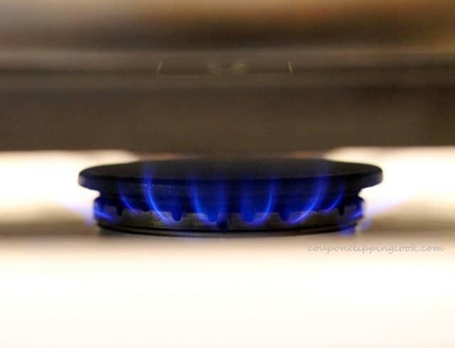 Pan on stove top