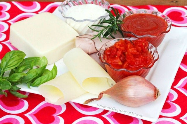 Ham and Cheese Pizza Ingredients
