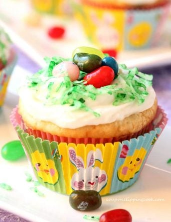 Jelly Bean Cupcakes with Jelly Bellys Inside and Out