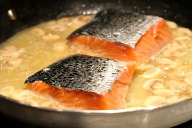Salmon Fillets in Skillet