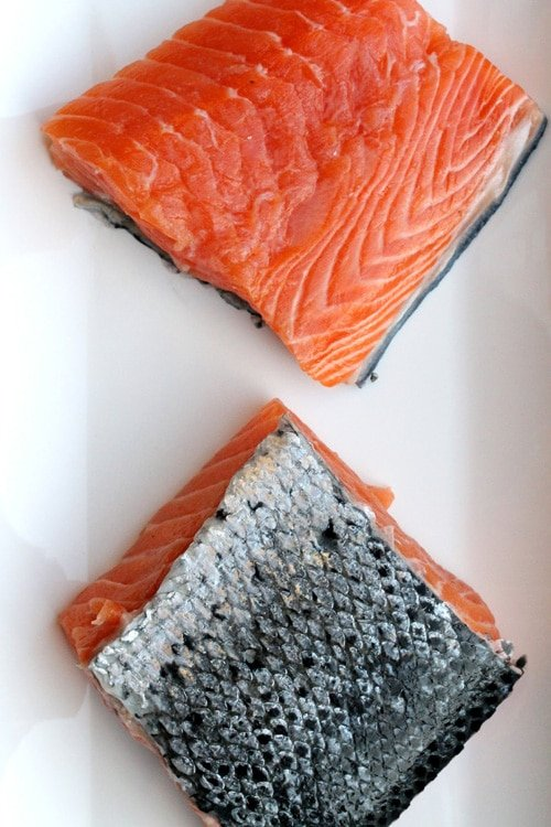 Salmon Fillets on Plate