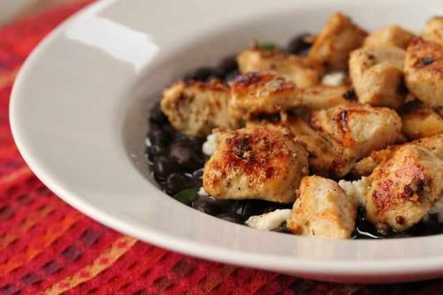 Chicken on Black Beans