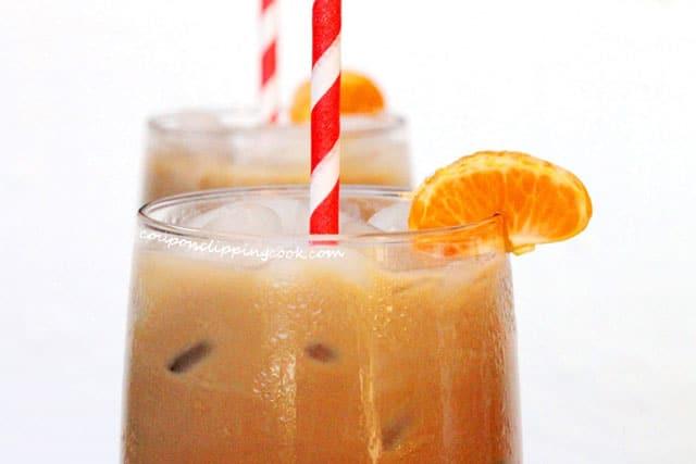 Iced Mandarin Orange Cafe Mocha