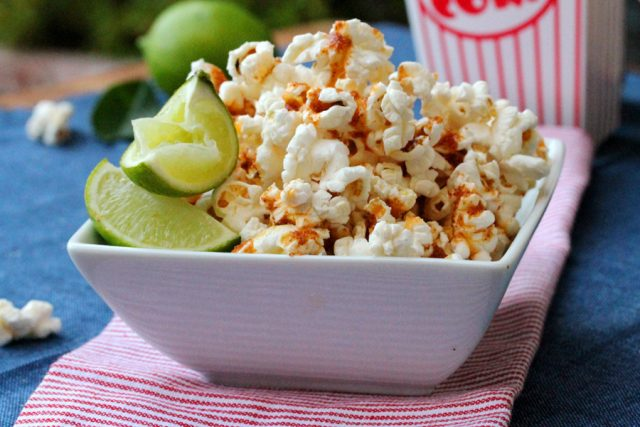 Lime Spicy Popcorn in bowl