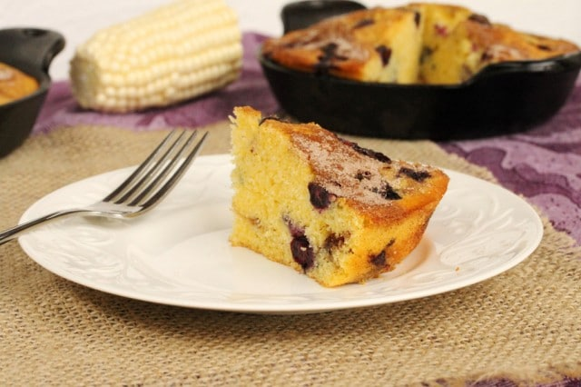 Piece of Blueberry Corn Bread