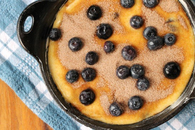 Blueberry Corn Bread Batter