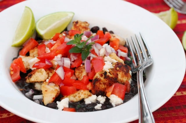 Spicy Chicken and Black Beans