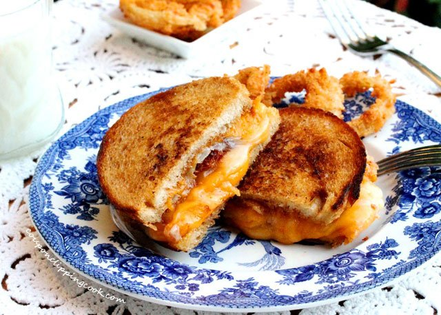 Browned Butter Grilled Cheese on plate