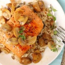 Marsala Salmon with Mushrooms