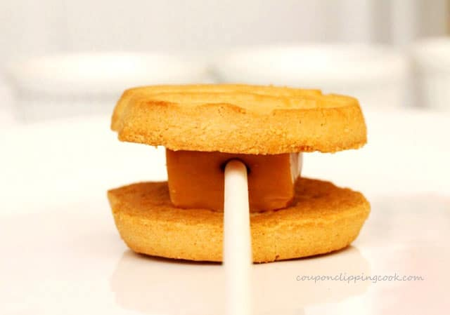 Caramel Lollipop in Cookies