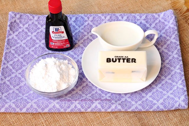Buttercream frosting ingredients